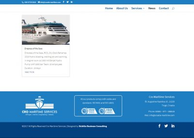 Cro Maritime Services Projects